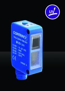 Der neue photoelektrische Sensor TRU-C23 erkennt mittels UV-Licht zuverlässig transparente Objekte