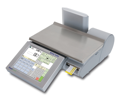 A flat compact scales for the sales counter:The UC3-CT from the METTLER TOLEDO Value Line.