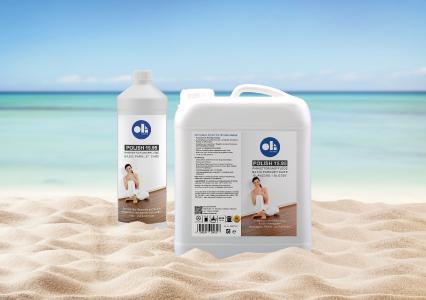 Titel: OLI-AQUA POLISH 15.95 ist als 5-Liter-Gebinde sowie als 1-Liter-Flaschen einzeln oder in einem 6er-Karton verfügbar.