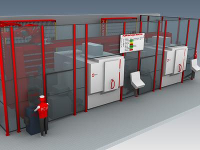 C 2 The machining jobs are prioritised at the automation system terminal