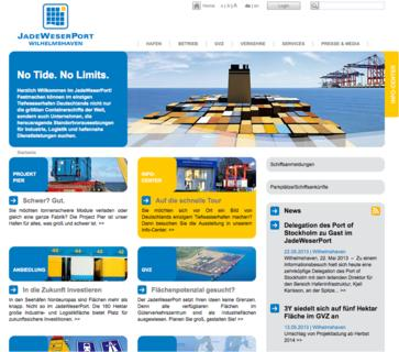 Relaunch der Website JadeWeserPort.de