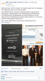 "15 manufacturer catalogs are awarded the ""Golden Catalog Seal"" by CADENAS"