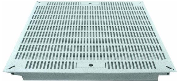 Eine CoolControl Lüfterplatte mit 65 Prozent Luftdurchlass