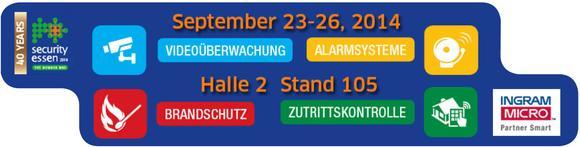 "Banner ""Security""-Messe in Essen"