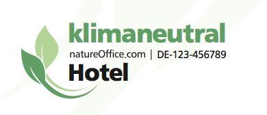Musterlogo Klimaneutrales Hotel