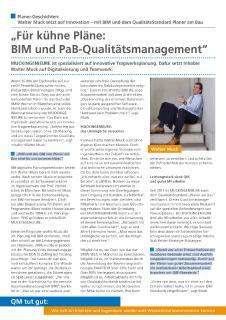 Planer-Geschichte MUCKINGENIEURE, Ingolstadt: Für kühne Pläne – BIM und PaB-QualitätsManagement