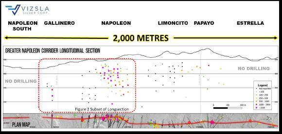 Figure 1: Longitudinal section of the greater Napoleon Vein Corridor