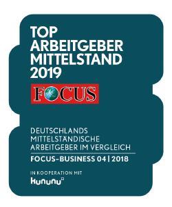 mayato erhält Focus-Business Siegel Top Arbeitgeber Mittelstand 2019