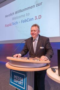 Michael Kynast eröffnet die 14te Auflage der Rapid.Tech + FabCon 3.D 2017