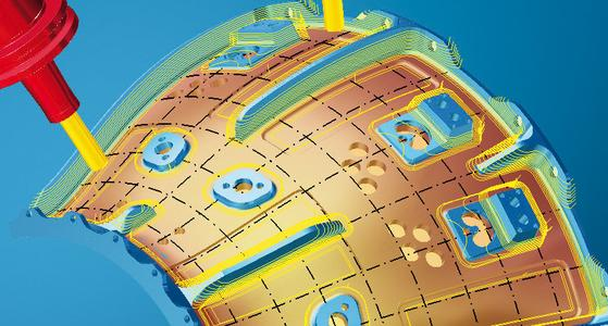 Curved surfaces can be machined with a consistent off set