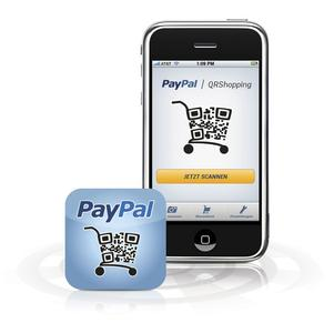Die PayPal QRShopping-Lösung - iPhone mit Icon