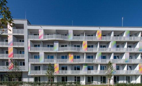 Fassade Apartmenthaus The Brucklyn, Erlangen Bildrechte / @Jost Unternehmensgruppe