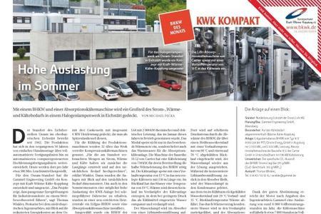 Zum BHKW des Jahres wurde eine industrielle KWKK-Anlage gewählt. (Bild: Energie&Management)