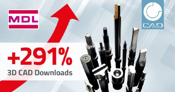 MDL Europe increases the number of its 3D CAD downloads with CADENAS by 291 % in 9 months