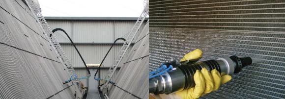 Automatisiertes Reinigungssystem JetMaster AS und manuelle Reinigung von Lamellenwärmetauschern