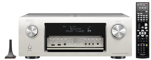 AVR-3313 Premium Silber mit Fernbedienung und Mikrofon (Falltür geöffnet)