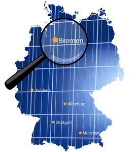 Deutschlandkarte Niederlassungen Bremen