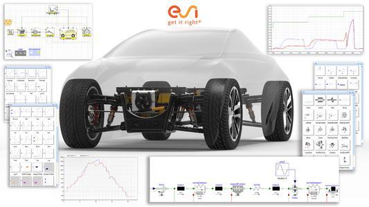 Am Beispiel einer 0D-1D Systemmodellierung in Visual-Environment wird illustriert, wie ESI-Xplorer die Gestaltung und Entwicklung der Architektur, des Systems, der Komponenten und die Steuerungstelemente in Antriebssträngen unterstützt
