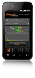 Mit der App Tension2Go können Anwender schnell per Smartphone prüfen, ob die Vorspannung von Industrieriemen der ContiTech Power Transmission Group stimmt (Photo: ContiTech)