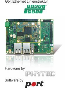 PHYTEC (Mainz) and port (Halle) expand their embedded systems portfolios with an integrated industrial communication technology offering supporting the PROFINET and EtherNet/IP protocol standards