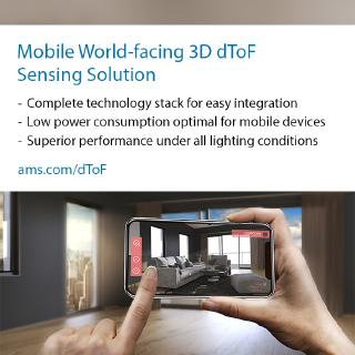 ams partners with ArcSoft to demonstrate complete solution for world-facing 3D dToF sensing in mobile devices
