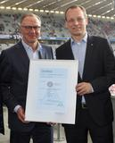 "Certificate presentation ""Certified Service Quality – Sport."" to FC Bayern München. Copyright: Getty Images"