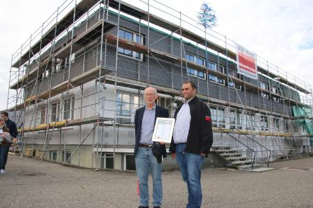 Gründer und Geschäftsführer Rudolf Kurz und Bauleiter Markus Bieger.