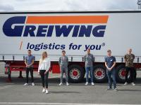 Zum Start in das Berufsleben heißt GREIWING in diesem Jahr 17 neue Auszubildende willkommen, sechs von ihnen am Unternehmenshauptsitz in Greven. (Foto: GREIWING logistics for you GmbH)