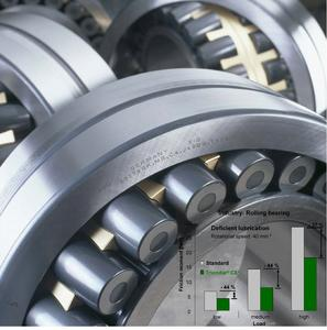Triondur® CX+ enables rolling bearings to operate without wear and at low friction under extreme conditions. The coating system has enabled the friction values in spherical roller bearings to be cut by up to 45%. This protects resources and in-creases the operating life of machines and equipment