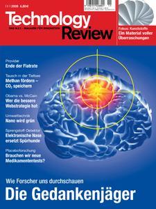 Das Titelbild der aktuellen Technology-Review-Ausgabe 11/2008