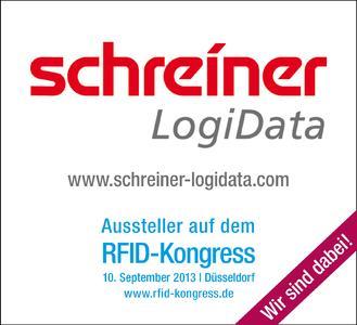 Schreiner LogiData ist Aussteller auf dem RFID-Kongress 2013 von 'RFID im Blick'