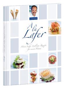 """Mit dem Foto-Kochbuch """"À la Lafer"""" von CEWE kann jeder Hobbykoch seine eigene Rezeptsammlung mit den Lieblingsgerichten des Fernseh-Kochs Johann Lafer kreieren"""