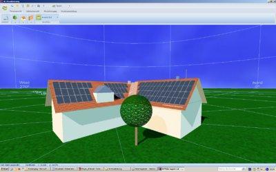ScreenShot PVSOL Expert 4.5 3D Visualisierung