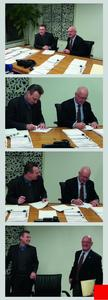MAE Managing Director Rüdiger Schury and Eitel President Ronald Schildge at the contract signing. (CMYK colors)