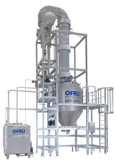 High-purity solvent recycling on an industrial scale