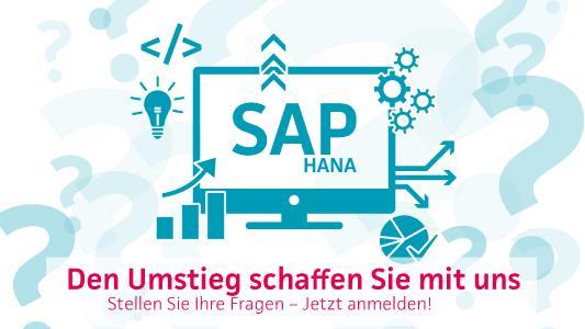 SAP HANA - den Umstieg schaffen Sie mit uns!