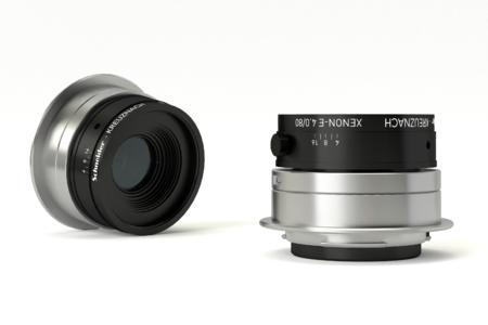 The 80mm Schneider-Kreuznach Xenon-Emerald lens.
