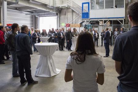 Begrüßung der Gäste durch H. Knecht, Geschäftsführer der PMM GmbH
