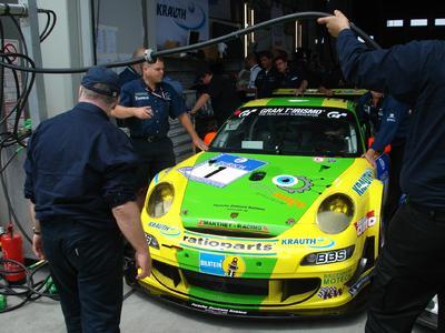 Der Seriensieger Manthey setzt GPSoverIP bereits seit 2006 ein. Hier ein Bild vom Fahrzeug aus dem Jahr 2007.
