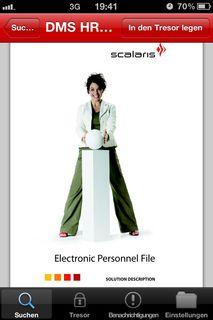 Scalaris ASP mobile: DMS Client für iPhone