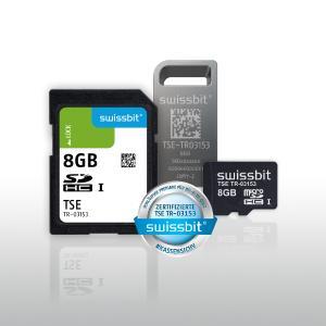 Die zertifizierte Swissbit-TSE gibt es als microSD, SD und USB – ganz ohne Adapter für höchste Zuverlässigkeit (Bildquelle: Swissbit)