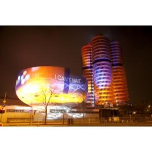 Video projection of BMW Welt and BMW Museum for the Launch of BMW i (02/2011)