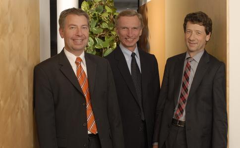Die SALT-Geschäftsführer Markus Honold, Dieter Heyde und Dr. Bernhard Blüthner