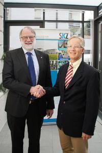 Dr.-Ing. Peter Heidemeyer, (li) und Dr.-Ing. Ulrich Mohr-Matuschek (re) sind nun für Forschung und Technologietransfer gleichermaßen verantwortlich