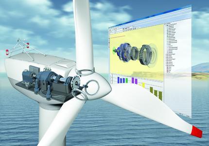 State-of-the-art calculation and simulation programs ensure the optimum design of wind turbine bearings (Image: Schaeffler)
