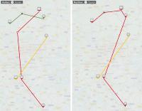Disposition ohne automatische Tourenplanung (l.) vs. Disposition mit automatischer Tourenplanung: Die neue WinSped-Funktion erstellt unter Einberechnung von vorhandenen Eigen- und Fremdfahrzeugen sowie bekannten Restriktionen optimale Touren. (Grafik: LIS AG)