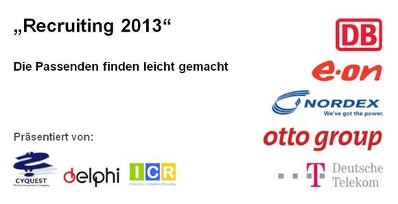 Recruiting2013 am 19. September 2012 in Hamburg