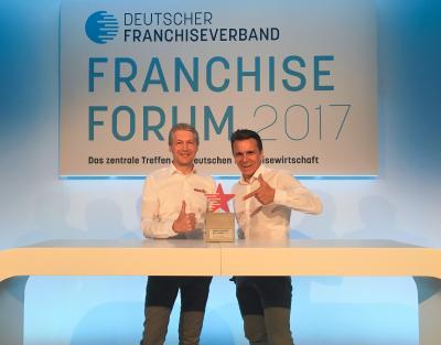 Die Gewinner des Franchise Awards - Stefan Jakob (li.) und Peter Knuth (re.)
