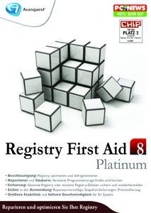 Nomniert für die Software des Jahres:  Registry First Aid 8 Platinum