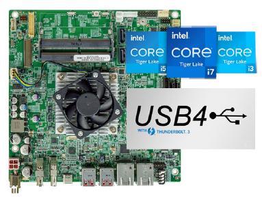 Thin-Mini-ITX-Mainboard mit Tiger-Lake-Prozessor